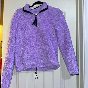 Purple Teddy Pullover Jacket